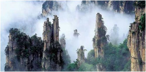Wulingyuan Scenic area (creative commons)