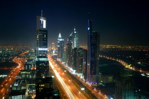 Creative commons:EVO- Nightscape of the high-rise section of Dubai