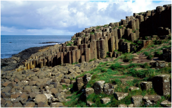 The Giant's Causeway in Ireland (creative commons)
