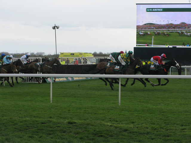 The Grand National is one of the top sporting events in the UK... photo by CC user  Nick Smith on geograph.org.uk