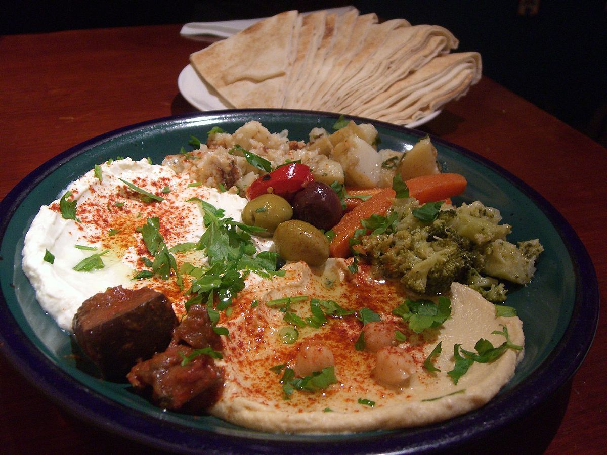 Top Middle Eastern dishes like this hummus looks quite mouth-watering, doesn't it? ... photo by CC user 10559879@N00 on Flickr