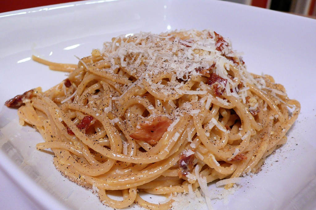 The pasta is a given when it comes to what to eat in Rome ... photo by CC user Ed Hawco via wikimedia commons